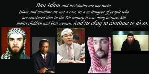 ban islam admin are not racist