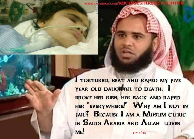 Celebrity Saudi preacher 'raped' and tortured his five-year-old daughter to death